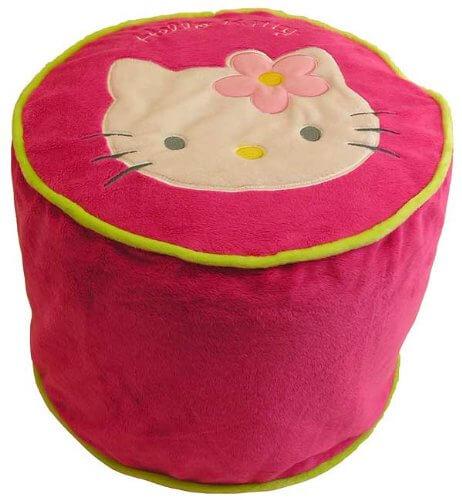 pouf hello kitty gonflable pour enfant hauteur 30cm d coration chambre rose fille fauteuil enfant. Black Bedroom Furniture Sets. Home Design Ideas